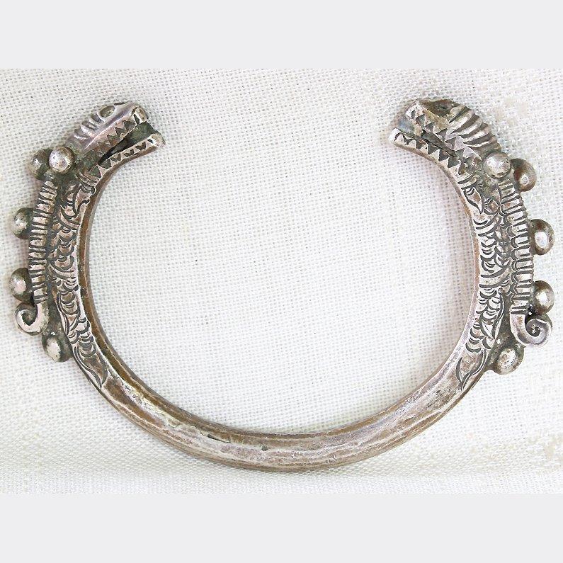 Antique Hmong Hill Tribe Silver Bracelet