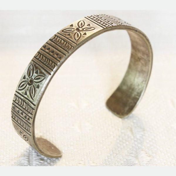 antique tribal silver bracelet