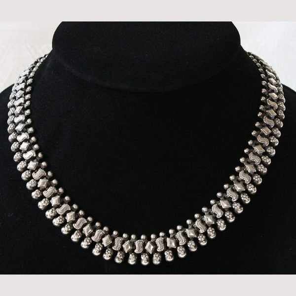 Antique French Indochina silver necklace