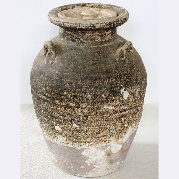 Antique 15th century Sukhothai ceramic jar