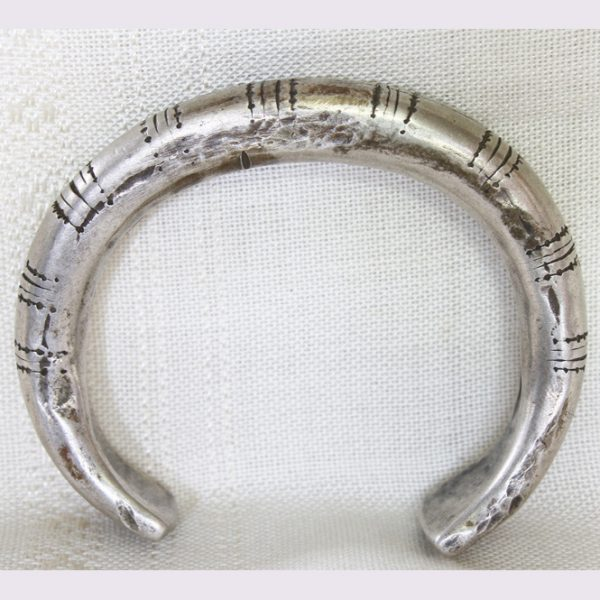 antique tribal silver bracelet from Hmong or Yao hill tribe people