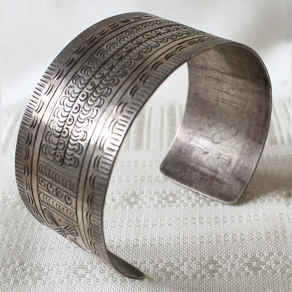 Antique tribal silver bracelet from Laos