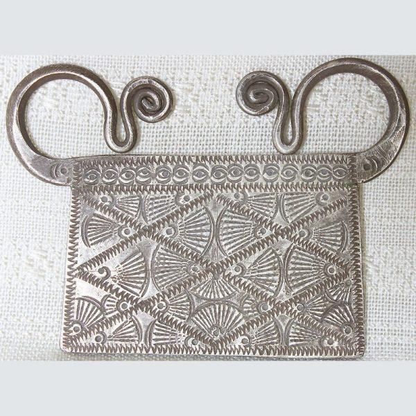 Antique Hmong silver soul lock pendant from Laos