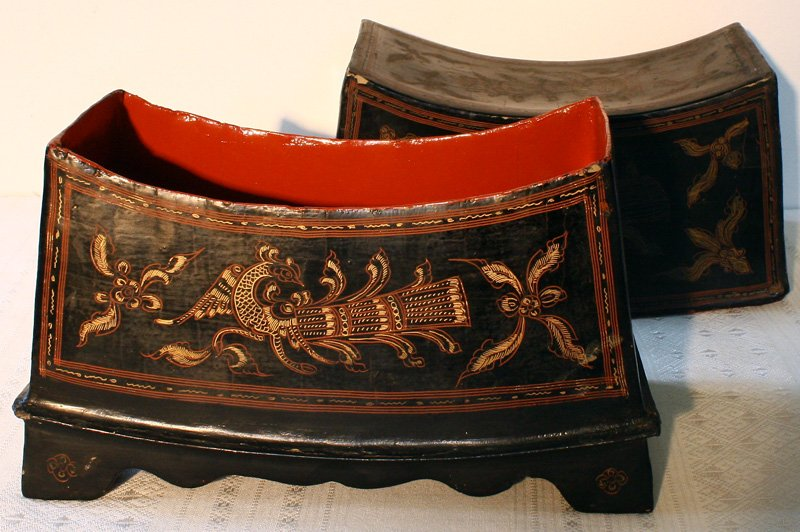 Antique Burmese Lacquerware BLW02M