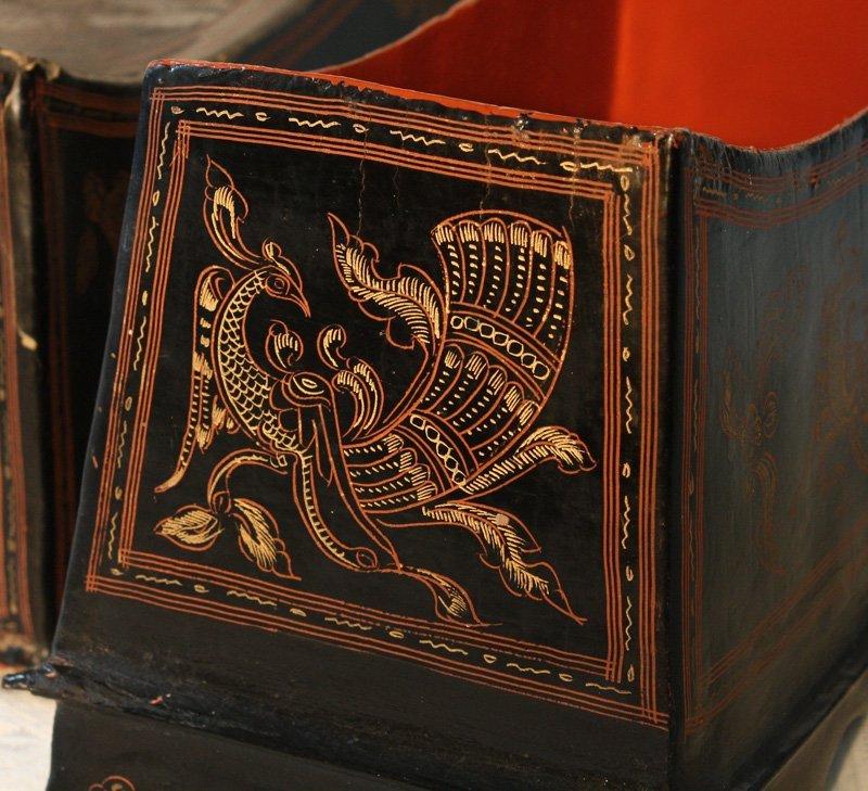 Antique Burmese Lacquerware BLW02M3