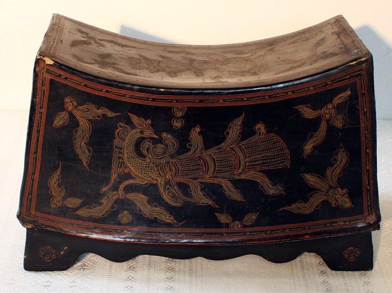 Antique Burmese Lacquerware BLW02M4