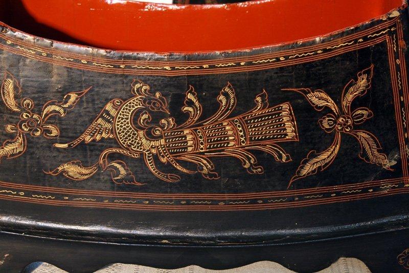 Antique Burmese Lacquerware BLW02M7