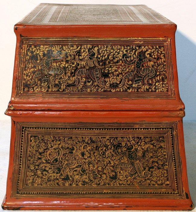 antique Burmese lacquerware BLW03M2