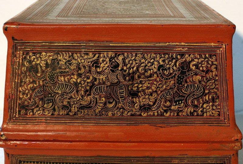 antique Burmese lacquerware BLW03M4