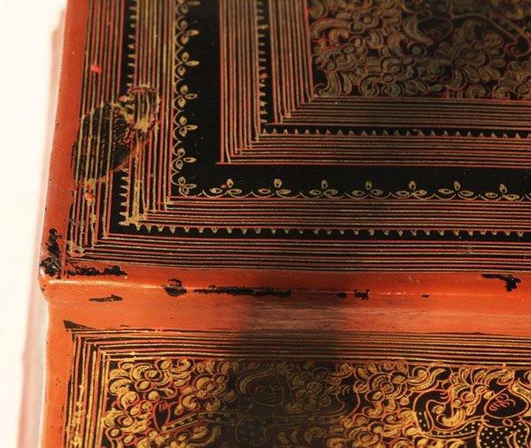 antique Burmese lacquerware BLW03M6