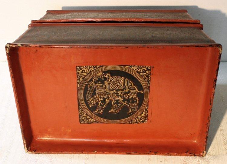 antique Burmese lacquerware BLW03M7