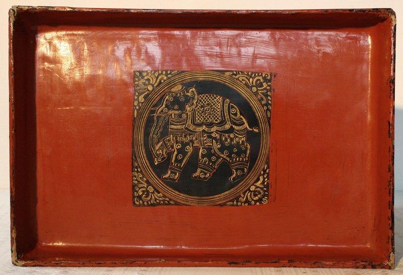 antique Burmese lacquerware BLW03M8