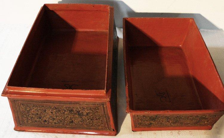 antique Burmese lacquerware BLW03M9