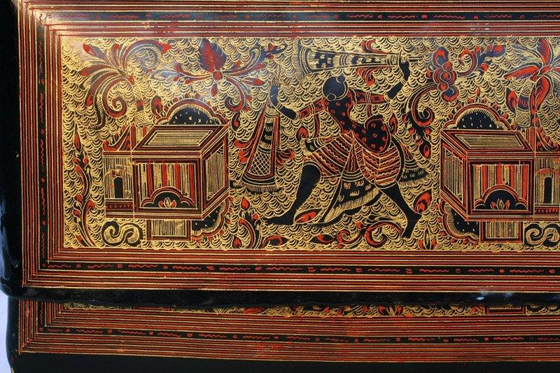 Antique Burmese Lacquerware BLW05M