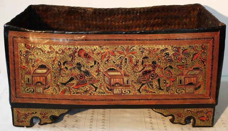 Antique Burmese Lacquerware BLW05M2