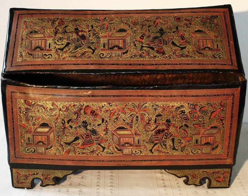 Antique Burmese Lacquerware BLW05M3