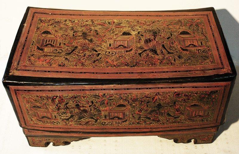 Antique Burmese Lacquerware BLW05M4