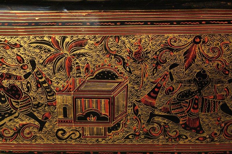 Antique Burmese Lacquerware BLW05M5