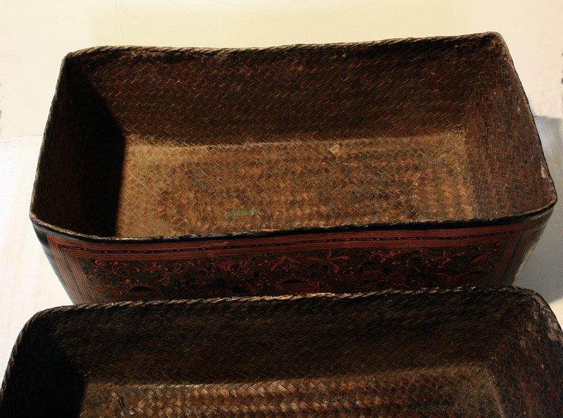 Antique Burmese Lacquerware BLW05M7