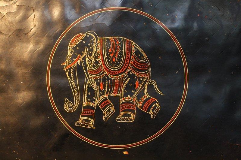 Antique Burmese Lacquerware BLW05M9