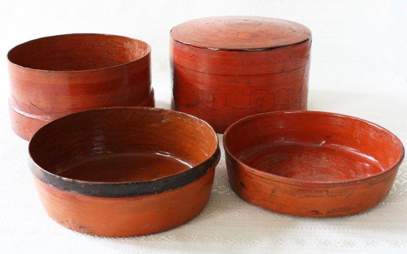 Antique Burmese Lacquerware BLW10M