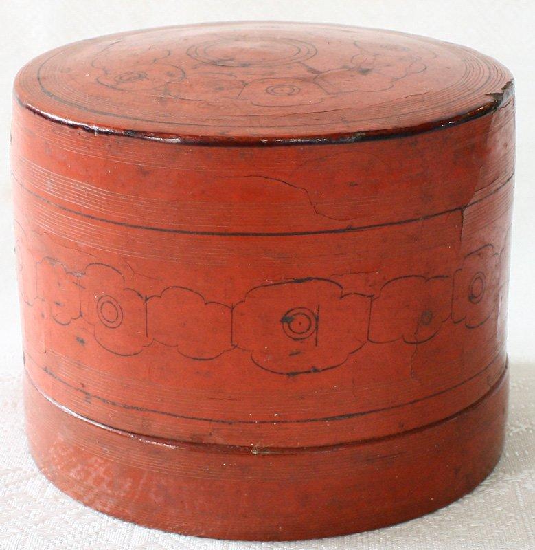 Antique Burmese Lacquerware BLW10M2
