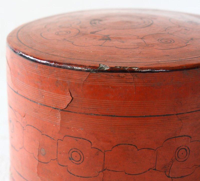 Antique Burmese Lacquerware BLW10M4