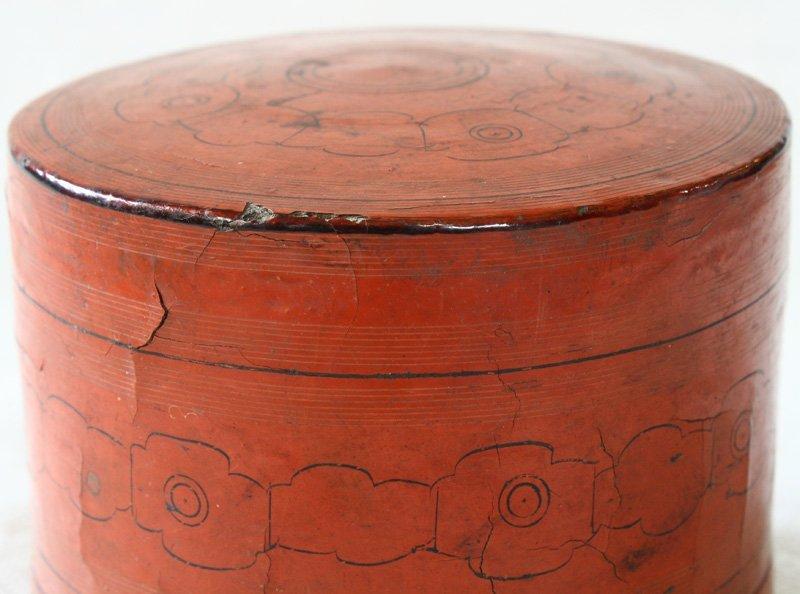 Antique Burmese Lacquerware BLW10M5
