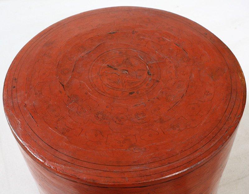 Antique Burmese Lacquerware BLW11M