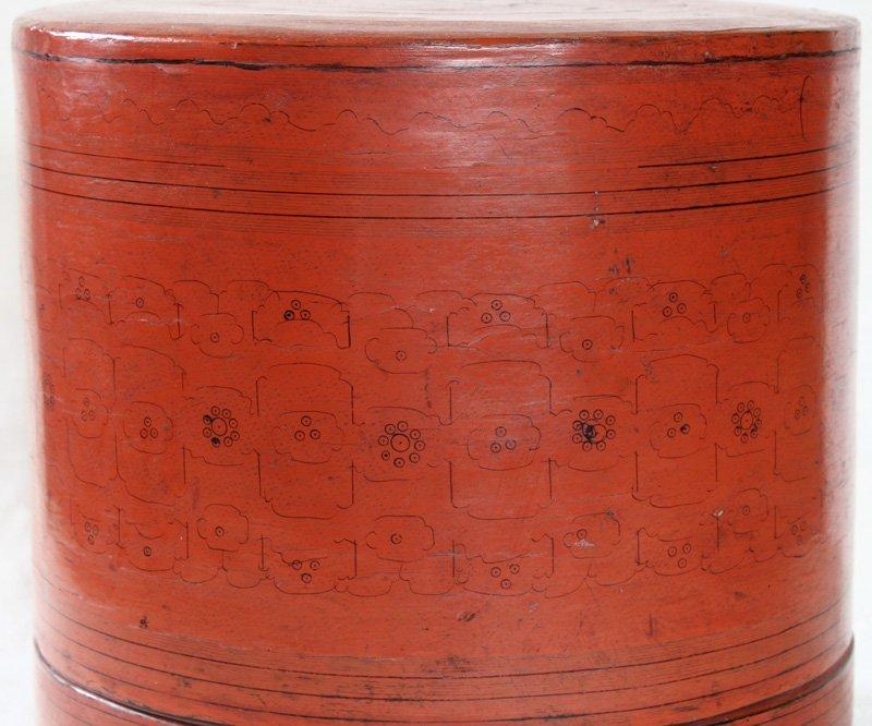 Antique Burmese Lacquerware BLW11M2