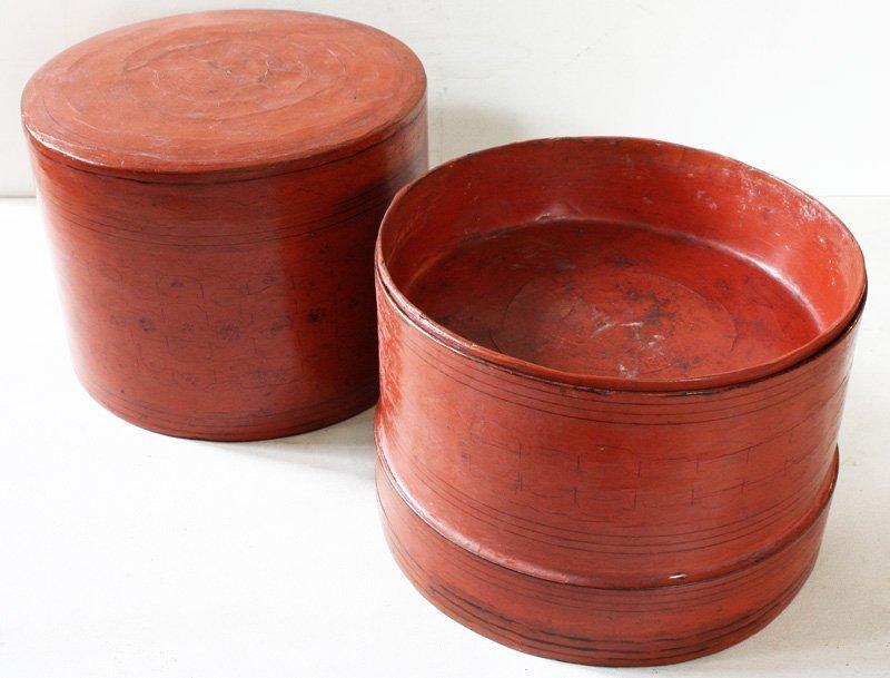 Antique Burmese Lacquerware BLW11M4