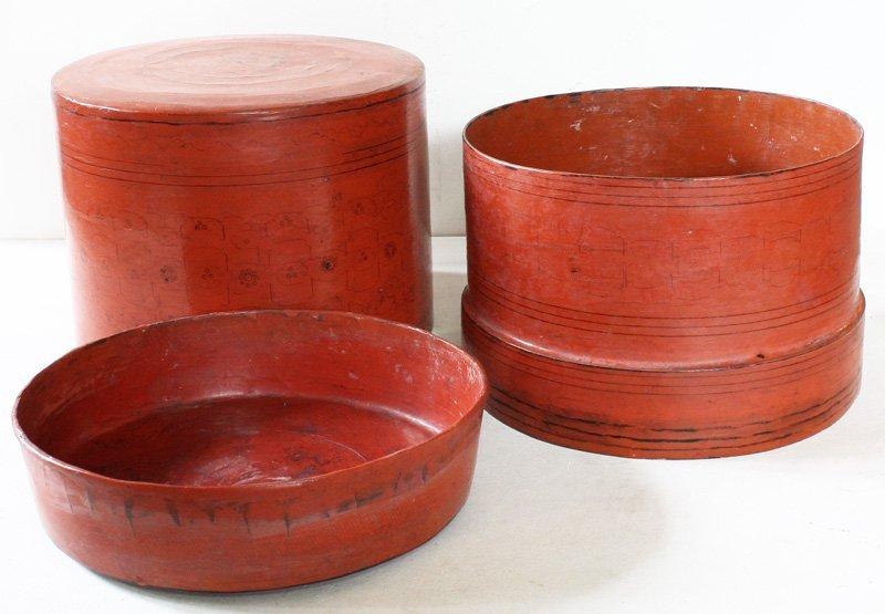 Antique Burmese Lacquerware BLW11M5