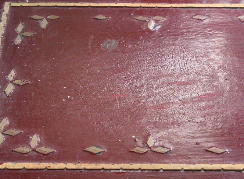 Antique Burmese Lacquerware BLW13M5