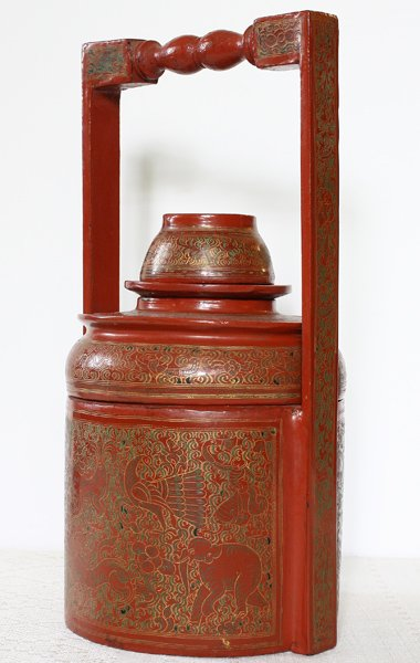 Antique Burmese Lacquerware BLW21M