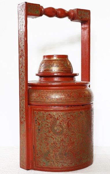 Antique Burmese Lacquerware BLW21M2