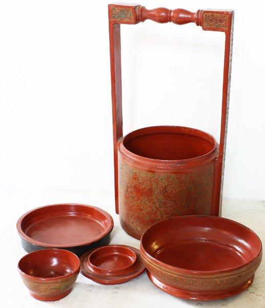 Antique Burmese Lacquerware BLW21M3