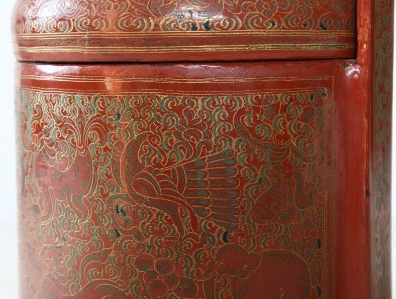 Antique Burmese Lacquerware BLW21M4