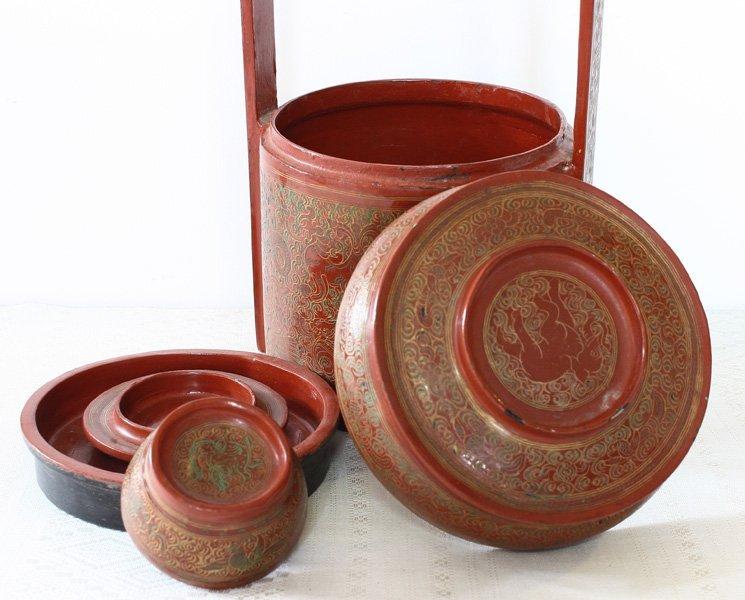 Antique Burmese Lacquerware BLW21M5