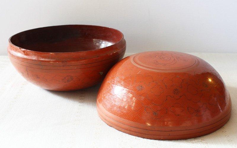 Antique Burmese Lacquerware BLW22M