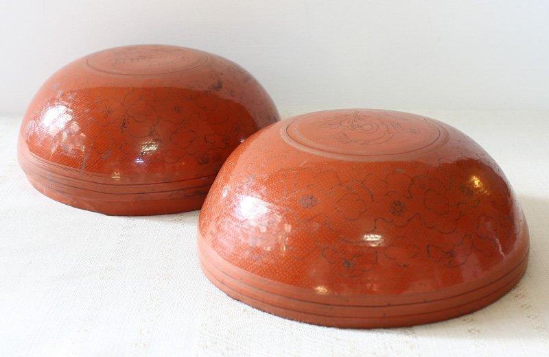 Antique Burmese Lacquerware BLW22M3