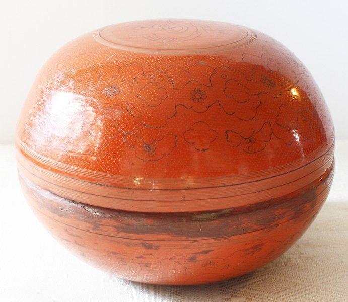 Antique Burmese Lacquerware BLW22M6