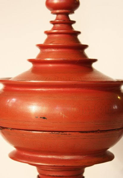 large antique Burmese lacquerware hsun-ok BLW23M2