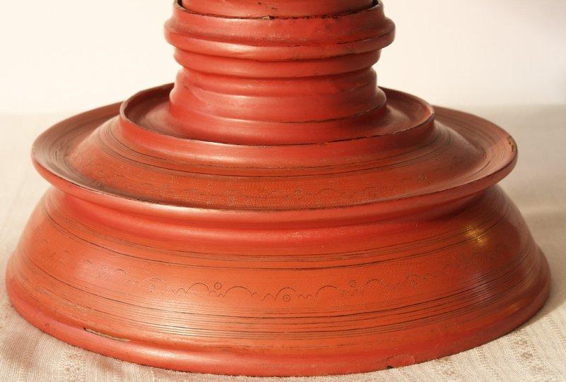 large antique Burmese lacquerware hsun-ok BLW23M4