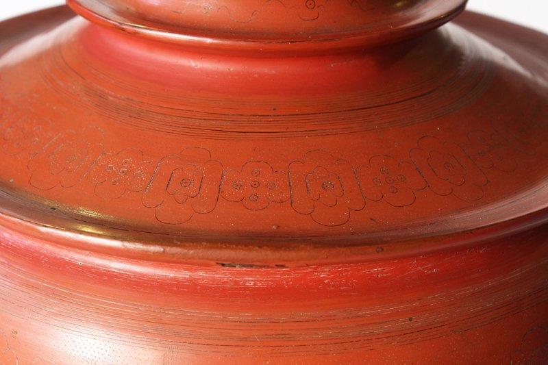 large antique Burmese lacquerware hsun-ok BLW23M5