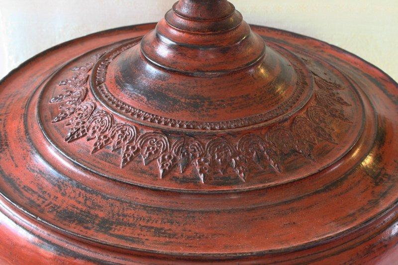 Antique Burmese Lacquerware BLW24M