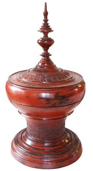 Antique Burmese Lacquerware BLW24M2