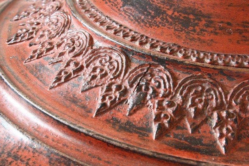 Antique Burmese Lacquerware BLW24M5