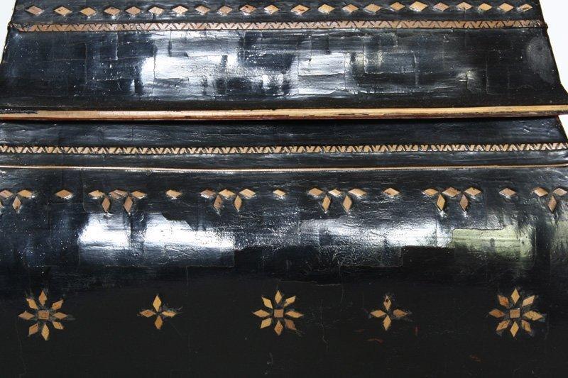 antique Burmese lacquerware BLW25M