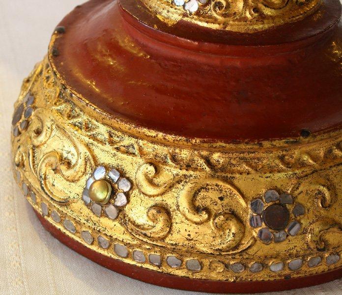 Large antique Burmese lacquerware hsun-ok BLW29M6