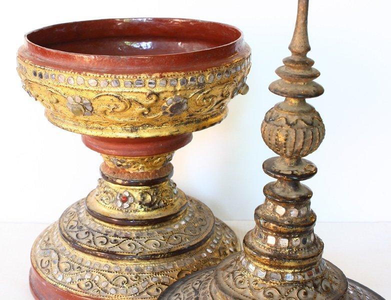 Antique Burmese lacquerware hsun-ok BLW29M7